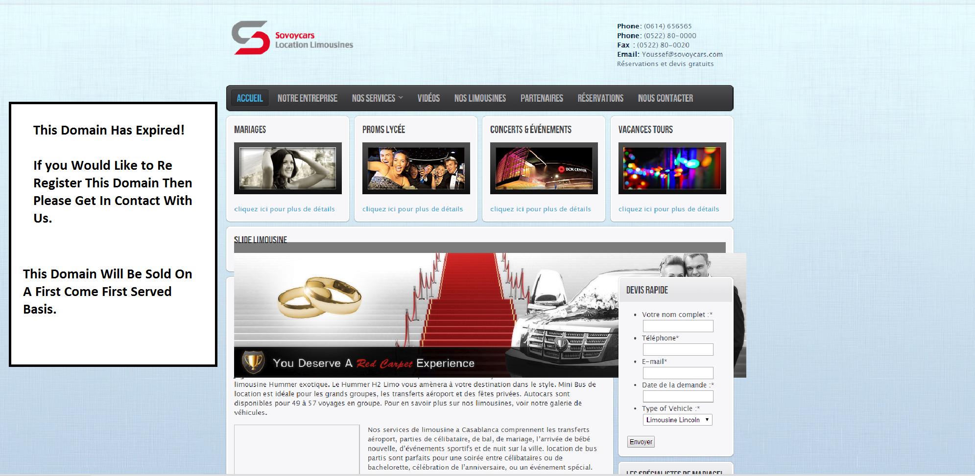 limousinecasablanca.com