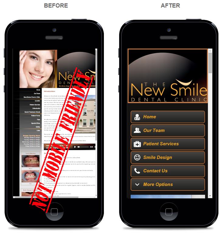 Mobile websites for Dentists